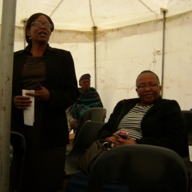 Mrs 'Mantsenki Mphalane from the  Ministry of Social Development